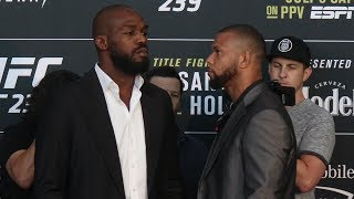 Jon Jones vs. Thiago Santos | UFC 239 Media Day Face Off
