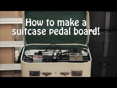 How to make a suitcase pedal board