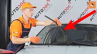 Instalar Escovas do limpa parabrisas você mesmo vídeo instrução em RENAULT CLIO