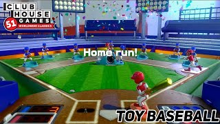 Clubhouse Games: 51 Worldwide Classics - Toy Baseball Gameplay
