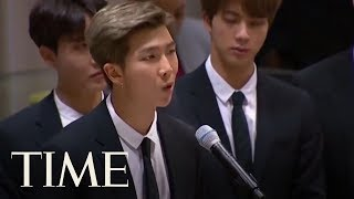 In United Nations Address, K-Pop Group Singer Urges Young People To Love Themselves | TIME