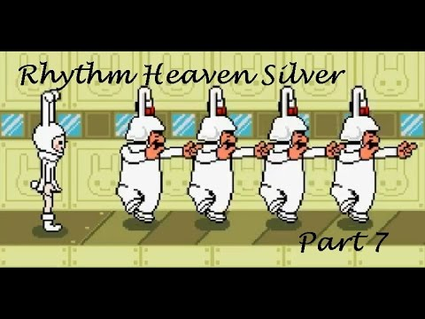 Rock Slicing and Bunny Marching - Rhythm Heaven Silver Part 7