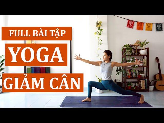 ⭐60 phút bài tập Yoga Giảm Cân - yoga săn chắc toàn thân | all levels