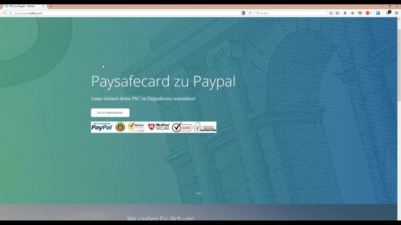 Paysafecard Paypal Umwandeln