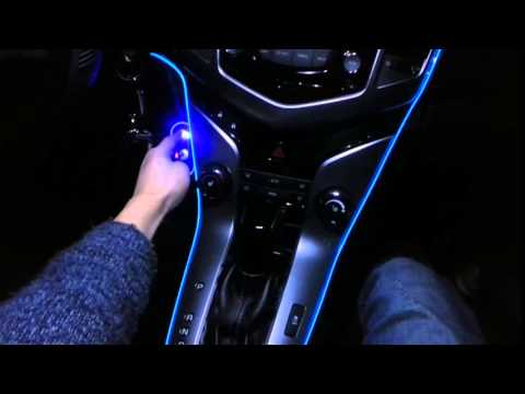 무드등 LED 조명 튜닝용품 el 와이어 실내등 자동차용품 - YouTube