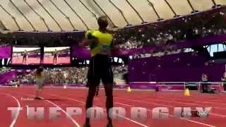 Usain Bolt 200m Final London Olympics video game race Simulation