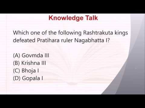 Indian History Questions Answers: Rashtrakuta kings defeated Pratihara ruler Nagabhatta I?