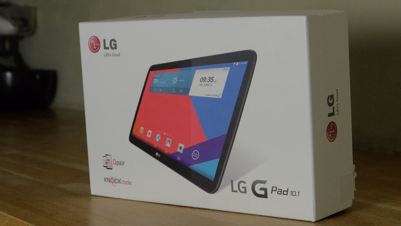 LG G Pad 10.1 Tablet Unboxing and Demo Review - YouTube