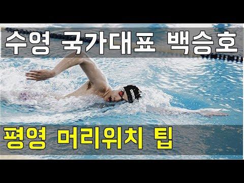 SHC 수영강습_백승호 선수 평영 머리위치 팁