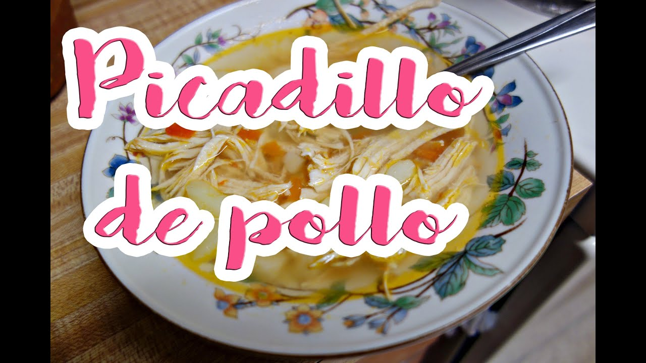 Como cocinar picadillo de pollo youtube for Como cocinar pollo