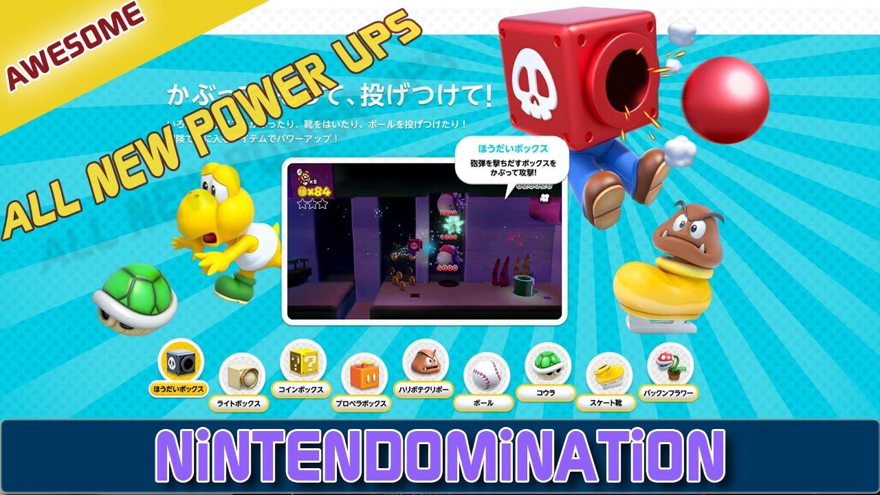 Wiiu Super Mario 3d World All New Special Power Ups