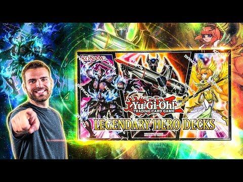 *NEW* YuGiOh Legendary Hero Decks Box Opening & Review!