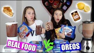 REAL FOOD VS OREO SMOOTHIE CHALLENGE!