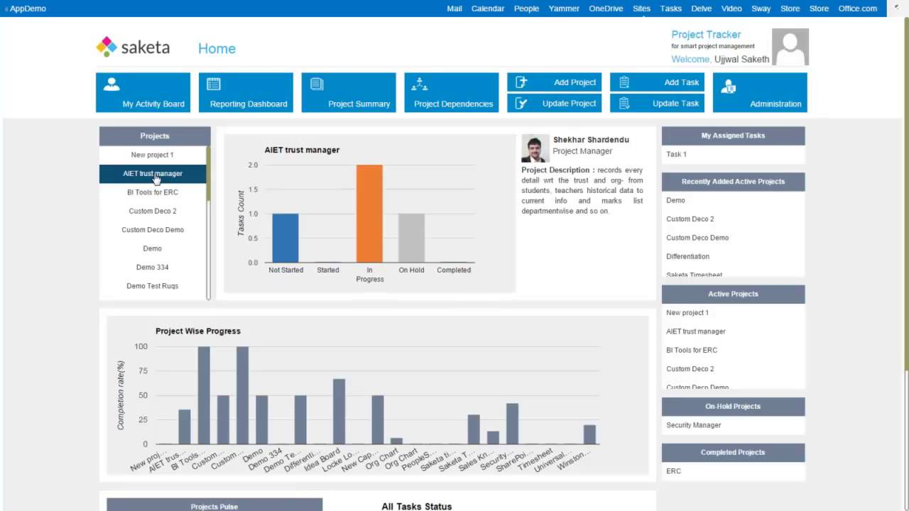 saketa project tracker for sharepoint an overview youtube
