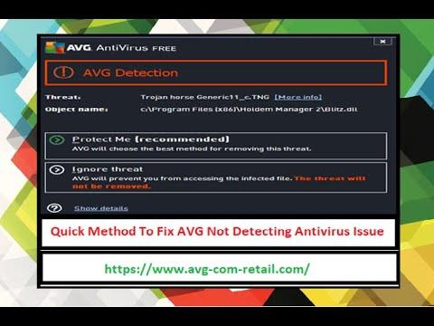 Quick Method To Fix AVG Not Detecting Antivirus Issue