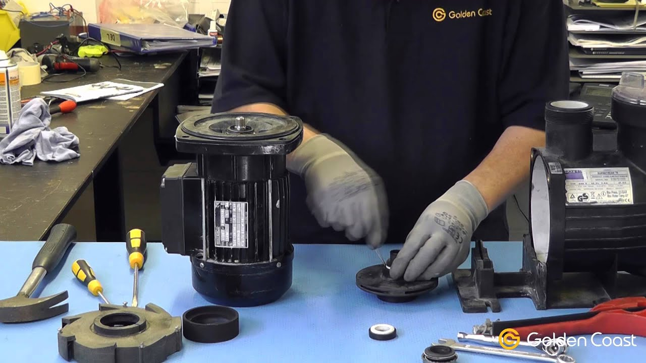 How To Change A Shaft Seal On A Swimming Pool Pump Youtube