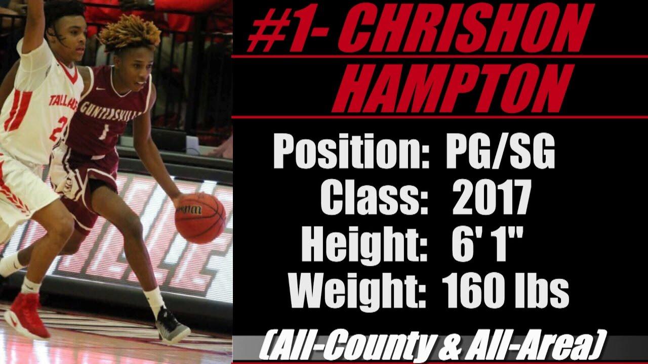 "2017- Street Light Recruiting BBALL G- Chrishon Hampton (6' 1""-160)  -Guntersville High School (AL)"