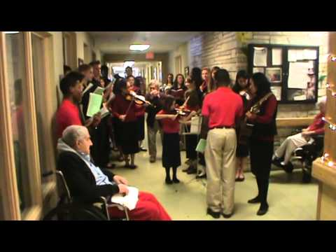 Stedfast Christian Academy caroling 2013 - part 2