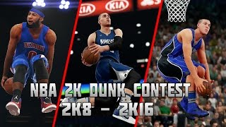 History of NBA 2K Slam Dunk Contest - (2K8-2K16)
