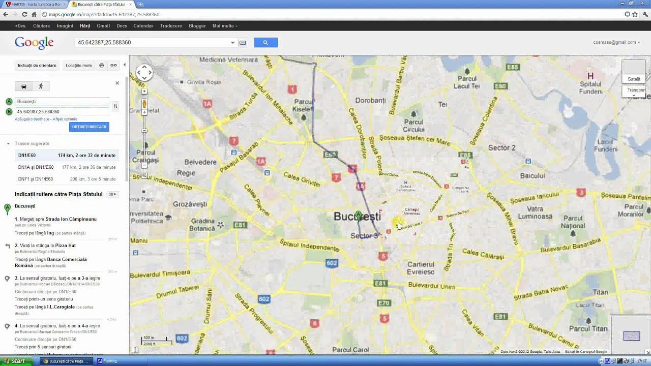 Calculare Trasee Rutiere Pe Harta Turistica Hartis Youtube
