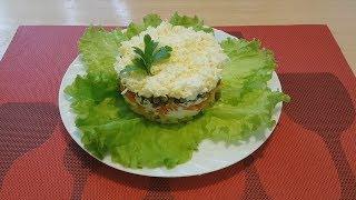 Салат нежность из простых и доступных продуктов