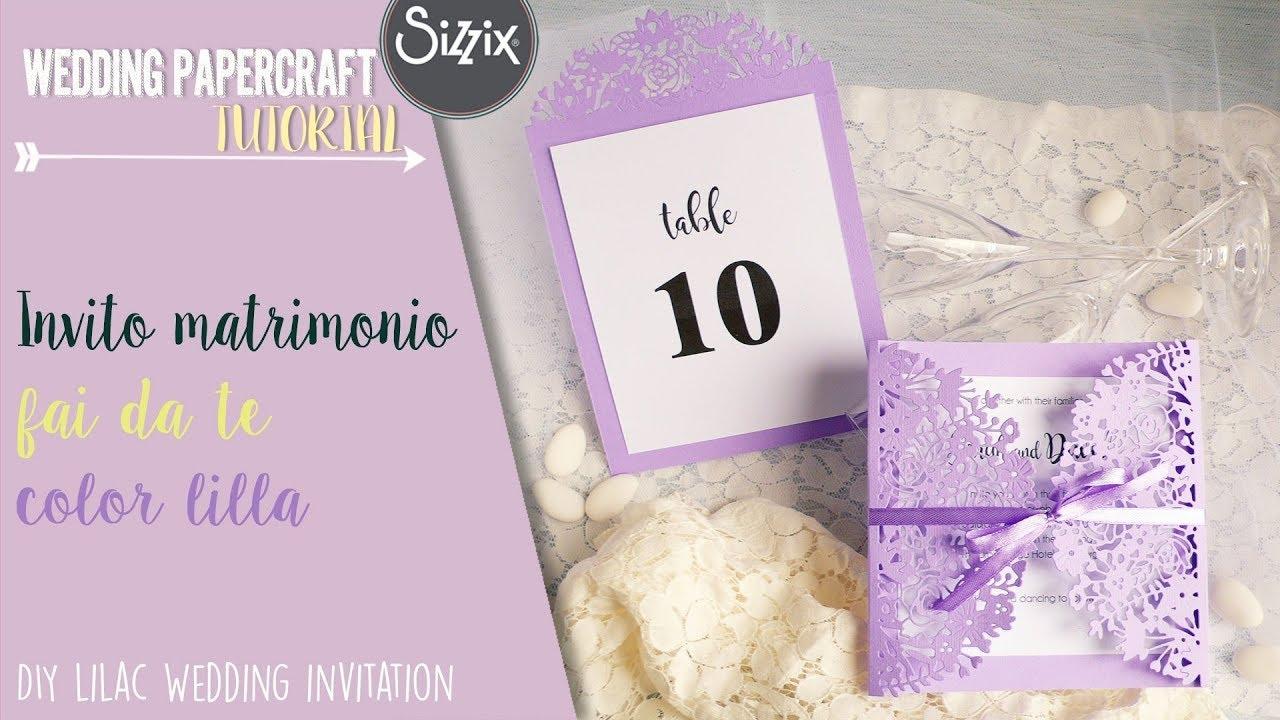 Matrimonio In Lilla : Matrimonio fai da te invito lilla diy lilac wedding invitation