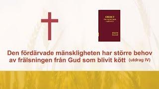 Den fördärvade mänskligheten har större behov av frälsningen från Gud som blivit kött (utdrag 4)