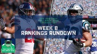 Week 8 Fantasy Football Rankings Rundown | Fantasy Football Podcast