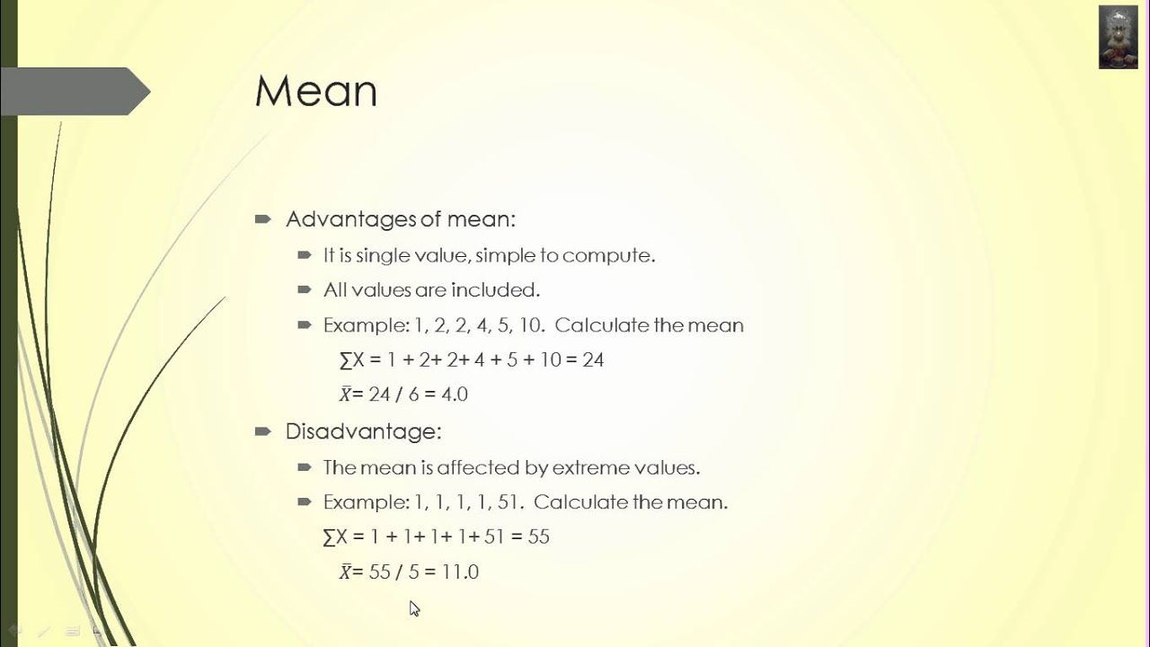 advantages and disadvantages of mean median and mode