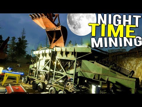 NIGHT TIME STORM GOLD MINING! GETTING A MILLION DOLLAR COMPANY! - Gold Rush Full Release Gameplay
