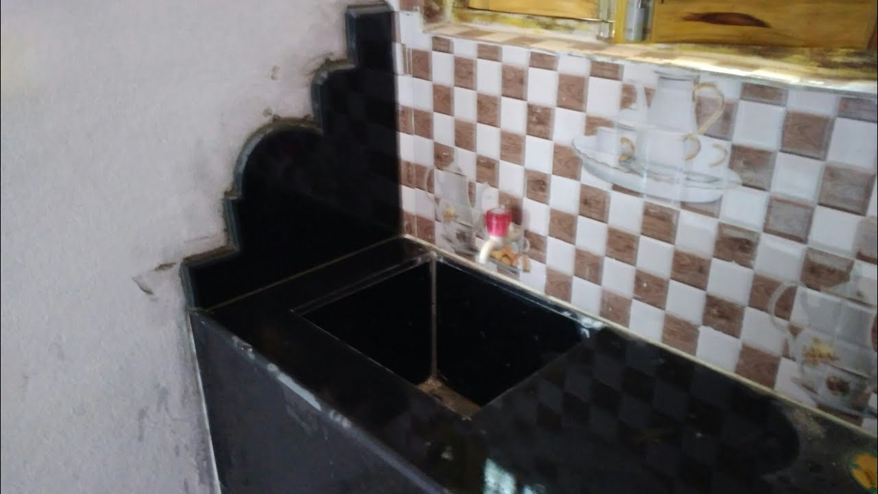 Granite Kitchen Platform Single Moulding Work In India Youtube