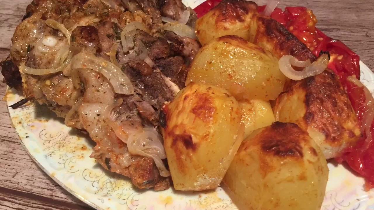 Свинина с картошкой в духовке - YouTube