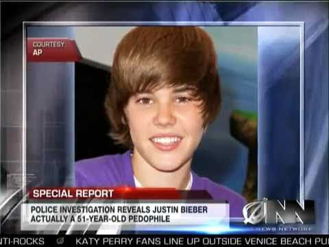 Justin Bieber IS A PEDOPHILE!!!!!! - Found To Be Cleverly Disguised 51-Year-Old Pedophile -