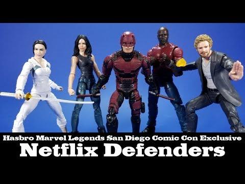 Marvel Legends Defenders Netflix San Diego Comic Con Hasbro