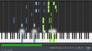 Scott Joplin -  Peacherine Rag -  Piano Tutorial (Synthesia) + Sheet Music & MIDI