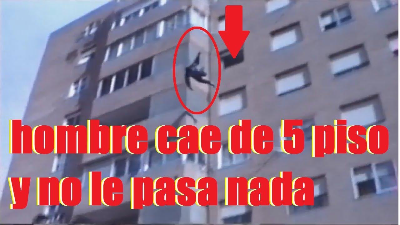 hombre cae de 5 piso y no le pasa nada - YouTube - photo#13