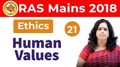 9:00 PM - RAS Mains 2018 | Ethics by Dr. Pushpa Ma'am | Human Values
