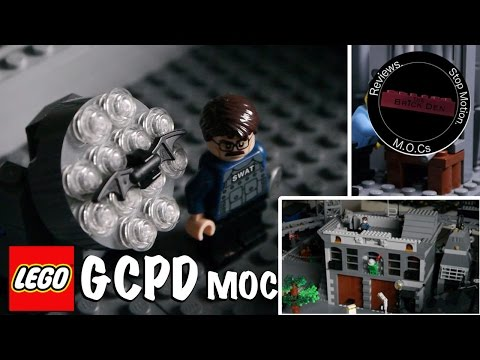 Custom Lego GCPD (Gotham City Police Station) MOC Showcase.