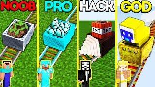 Minecraft Battle: NOOB vs PRO vs HACKER vs GOD: MINECART CHALLENGE in Minecraft Animation