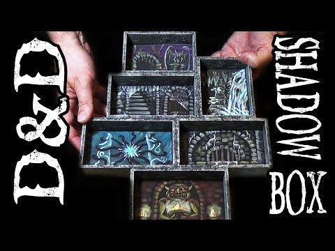 ⚔DIY D&D Shadow Box Dungeon for Mini Figs (DM's Craft #198)