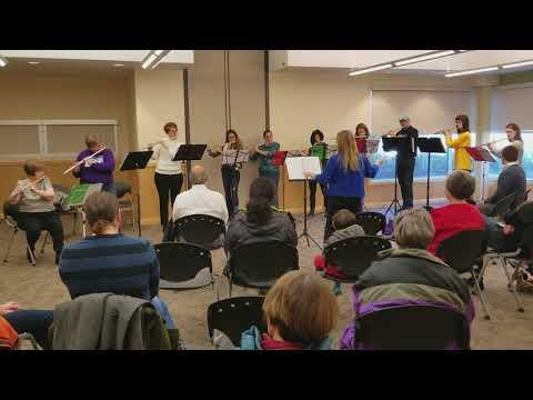 Jingle Bells, Performed by Durham Flute Choir, Director - Maureen Kelly