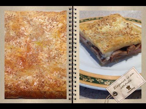 Слоеный пирог с курицей и картофелем - кулинарный рецепт.