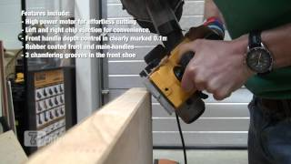 Making A Chamfer Using A Dewalt D26500k Planer