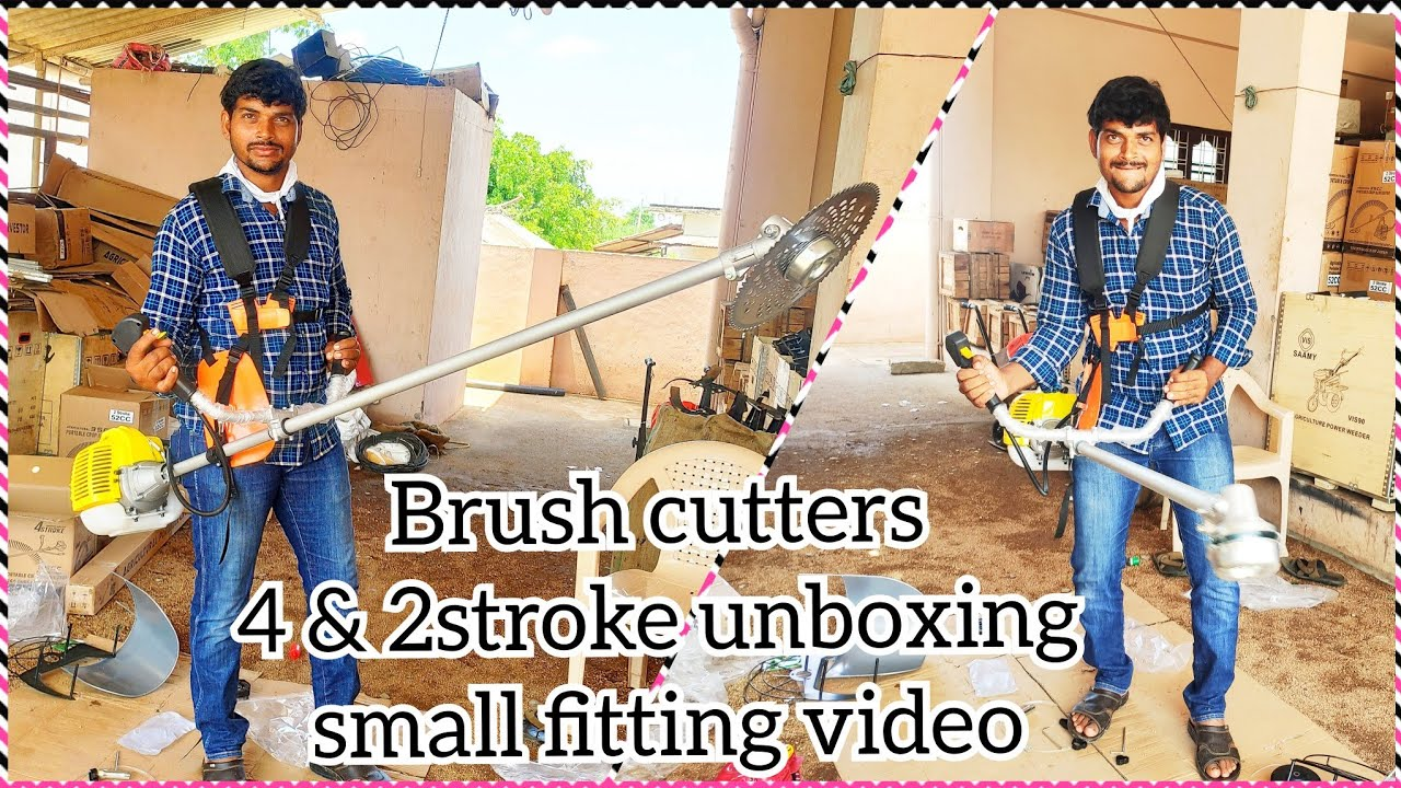 4&2  stroke side pack brush cutter unboxing || small fitting video