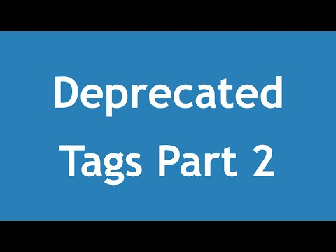 [ Html5 In Arabic ] #03 - Deprecated Tags Part 2