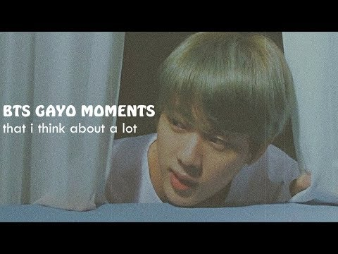 bts gayo moments that i think about a lot