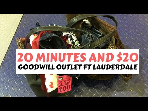 THRIFT HAUL: $20 and 20 minutes at the Goodwill Outlet Fort Lauderdale