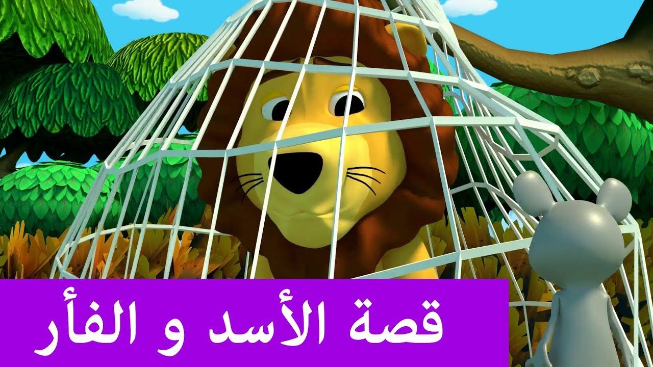 قصة الأسد و الفأر قصص تعليمية للأطفال بالعربية Youtube