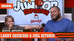 Ogunjobi and Bitonio talk Space, Aliens and Fighting Sharks | Cleveland Browns