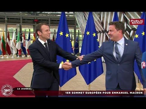 1er Sommet européen pour Emmanuel Macron